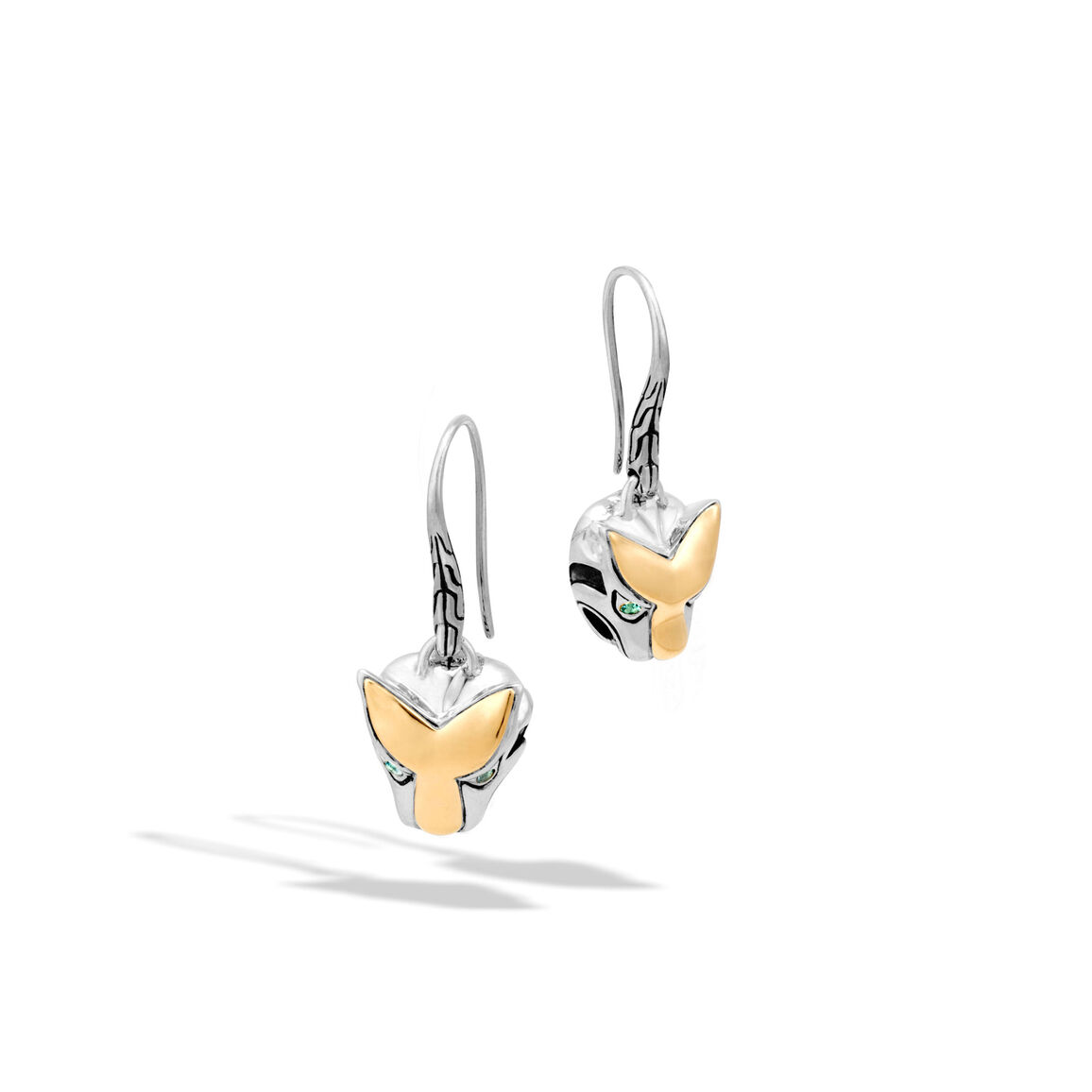 Legends Macan Drop Earring in Silver and 18K Gold