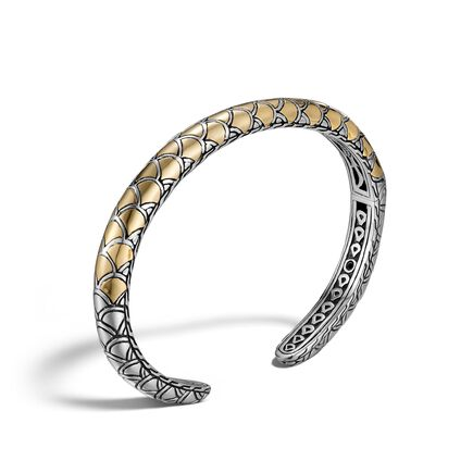 Legends Naga 6.5MM Kick Cuff in Silver and 18K Gold