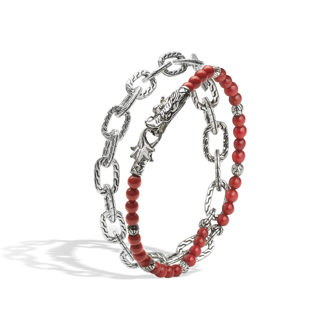 Legends Naga Wrap Bracelet in Silver with Gemstone