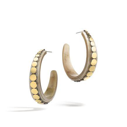 Dot Medium Hoop Earring in Silver, 18K Gold and Horn
