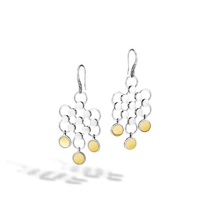 Dot Chandelier Earring in Silver and 18K Gold