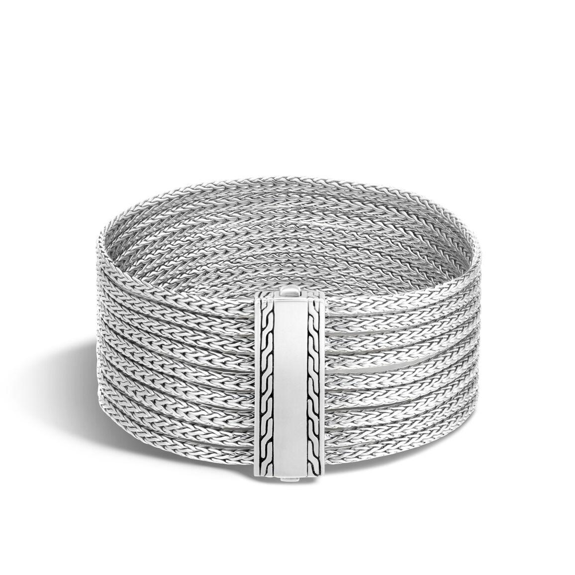 Classic Chain Nine Row Bracelet in Silver