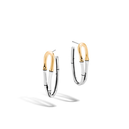 Bamboo Medium Hoop Earrings