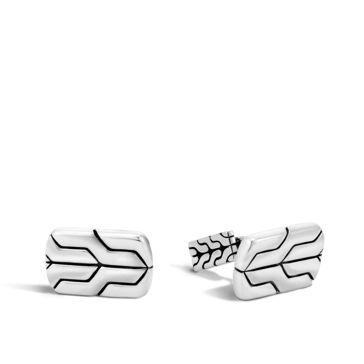Classic Chain Cufflinks in Silver