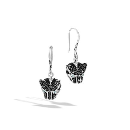 Legends Macan Drop Earring in Silver with Gemstone