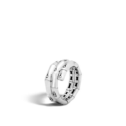 Bamboo Coil Ring in Silver