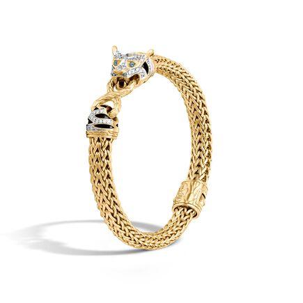 Legends Macan 7.5MM Station Bracelet, 18K Gold with Diamonds