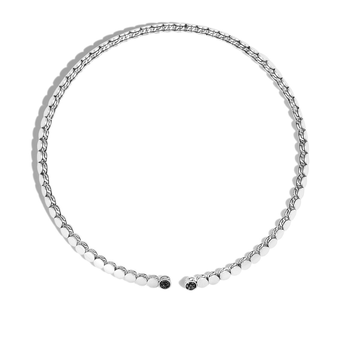 Dot Choker Necklace in Silver with Gemstone