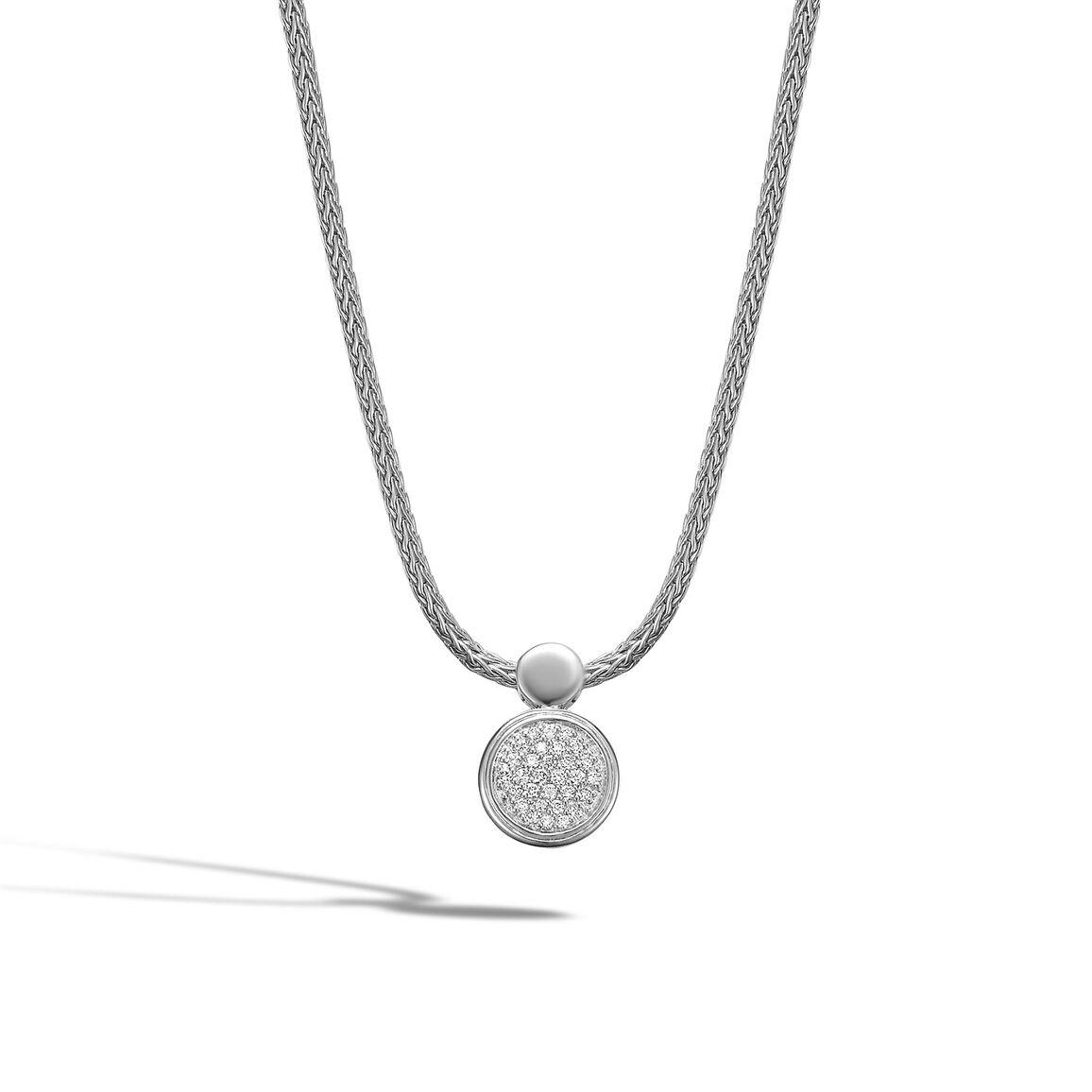 Round Drop Pendant with Diamond