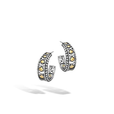 Legends Naga Small Hoop Earring in Silver and 18K Gold