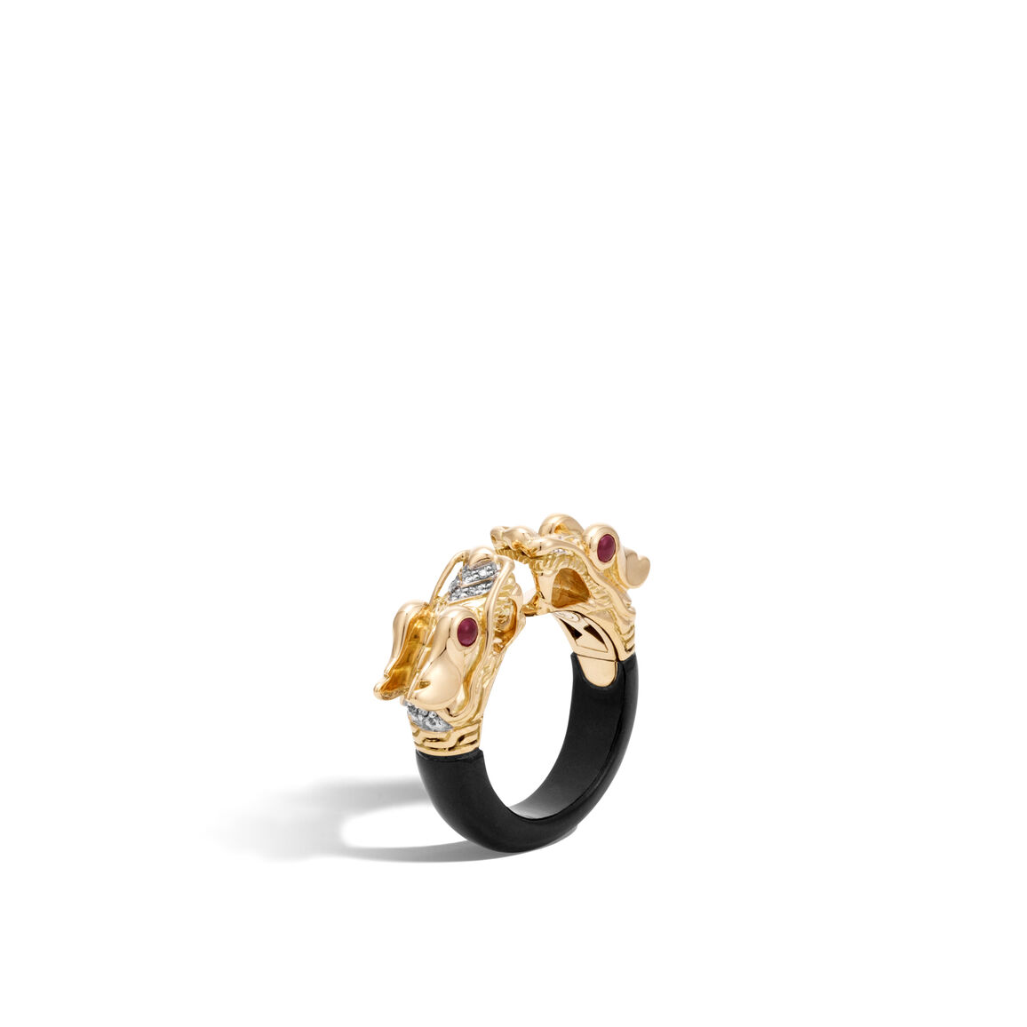 Legends Naga Ring in 18K Gold with Gemstone and Diamonds
