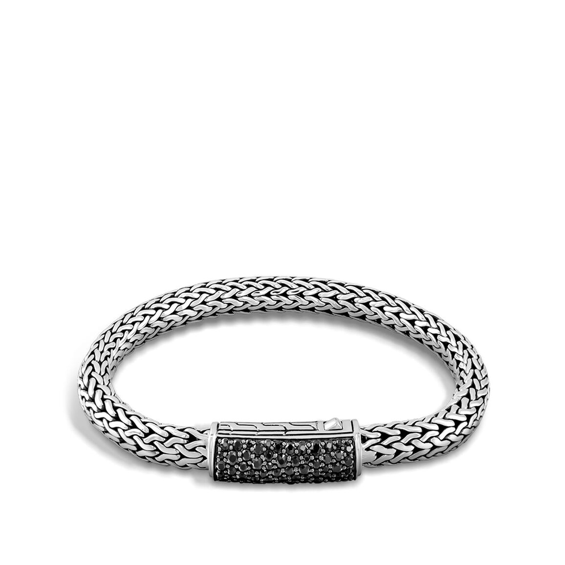 Classic Chain 7.5MM ID Bracelet in Silver with Gemstone