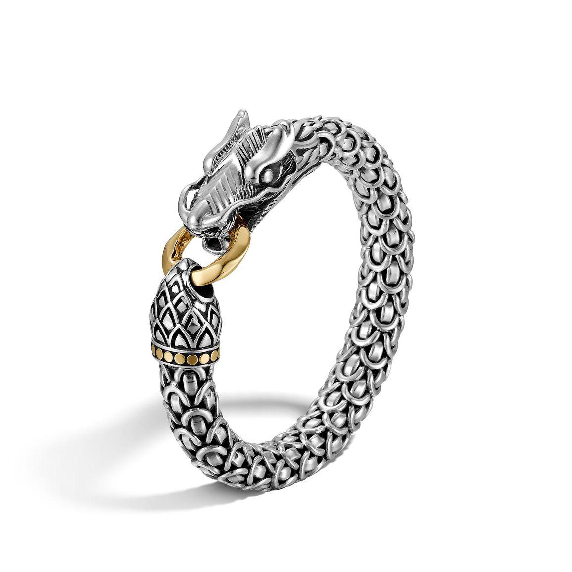 Legends Naga 10MM Station Bracelet in Silver and 18K Gold