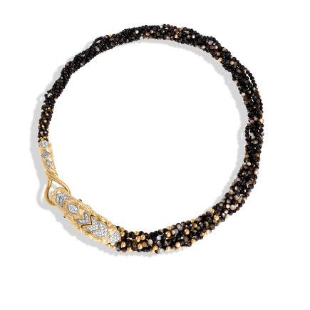Legends Naga Multi Row Necklace, 18K Gold, Gemstone and Dia