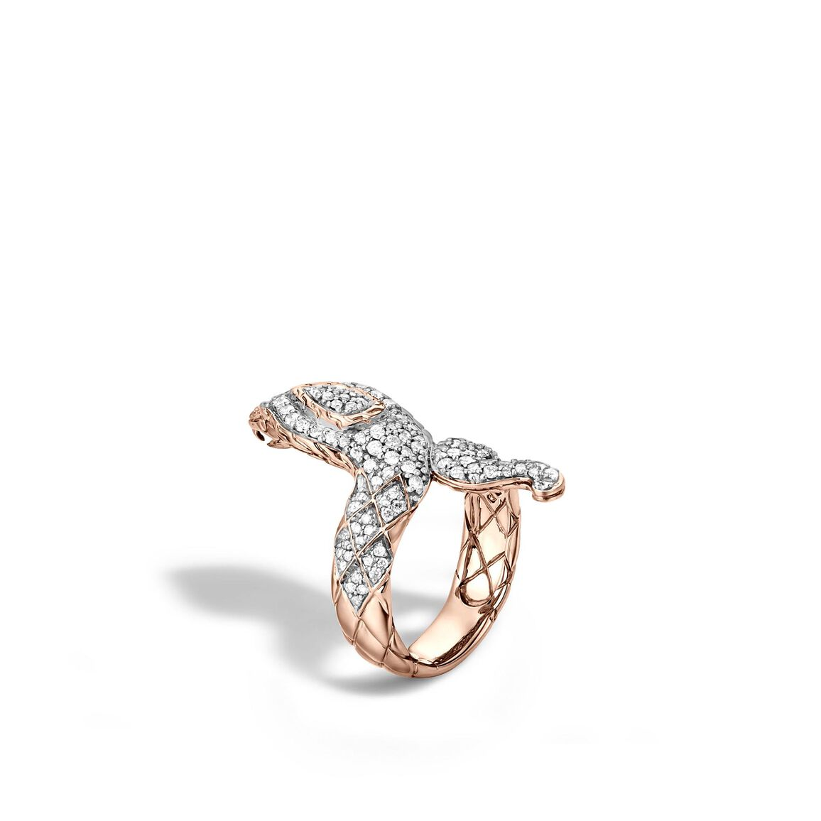 Legends Cobra Ring in 18K Gold with Diamonds