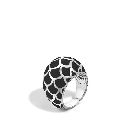 Legends Naga Dome Ring in Silver with Enamel