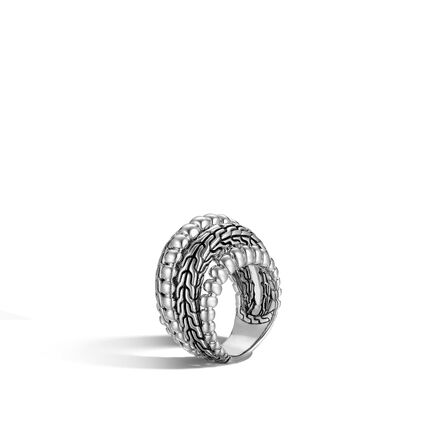 Classic Chain Dome Ring in Silver