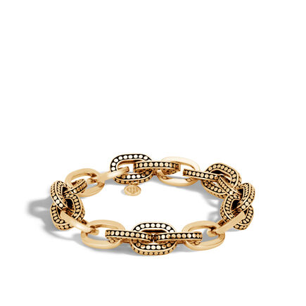 Dot 11.5MM Link Bracelet in18K Gold