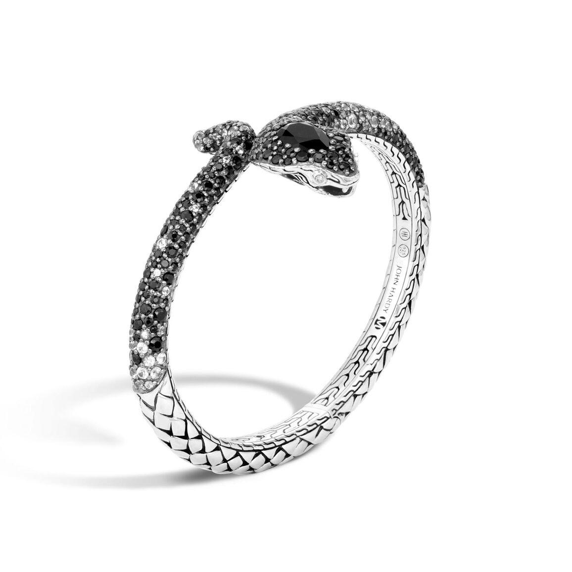 Legends Cobra Kick Cuff in Silver with Gemstone