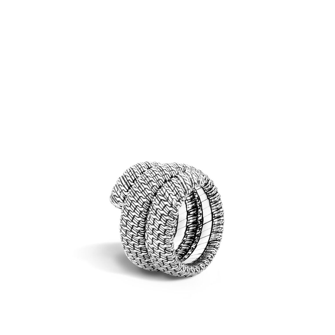Classic Chain Coil Ring in Silver