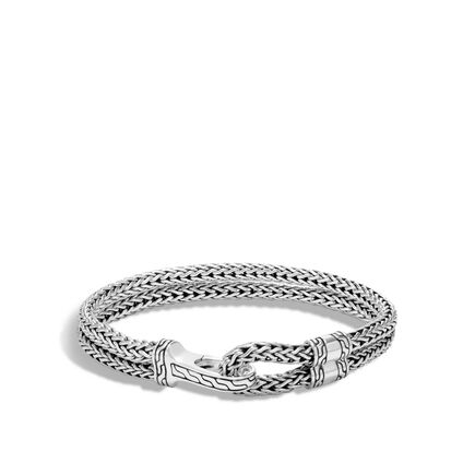 Classic Chain 9mm Station Bracelet in Silver