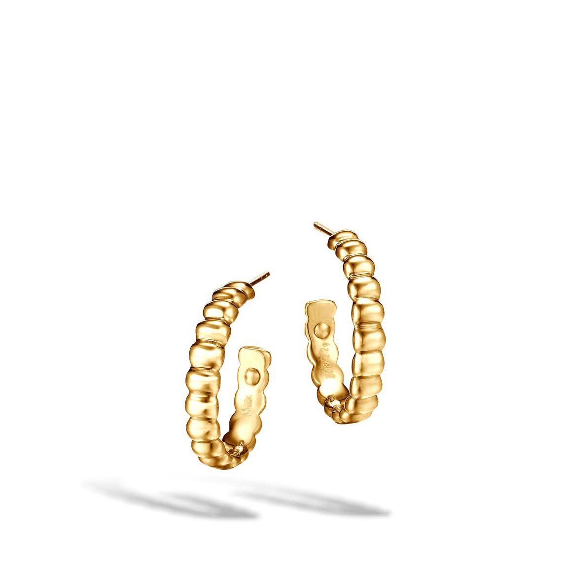 Classic Chain Small Hoop Earring in 18K Gold