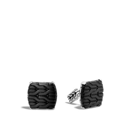 Classic Chain Cufflinks with Black Onyx