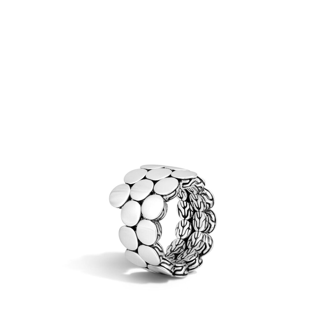 Dot Coil Ring in Silver