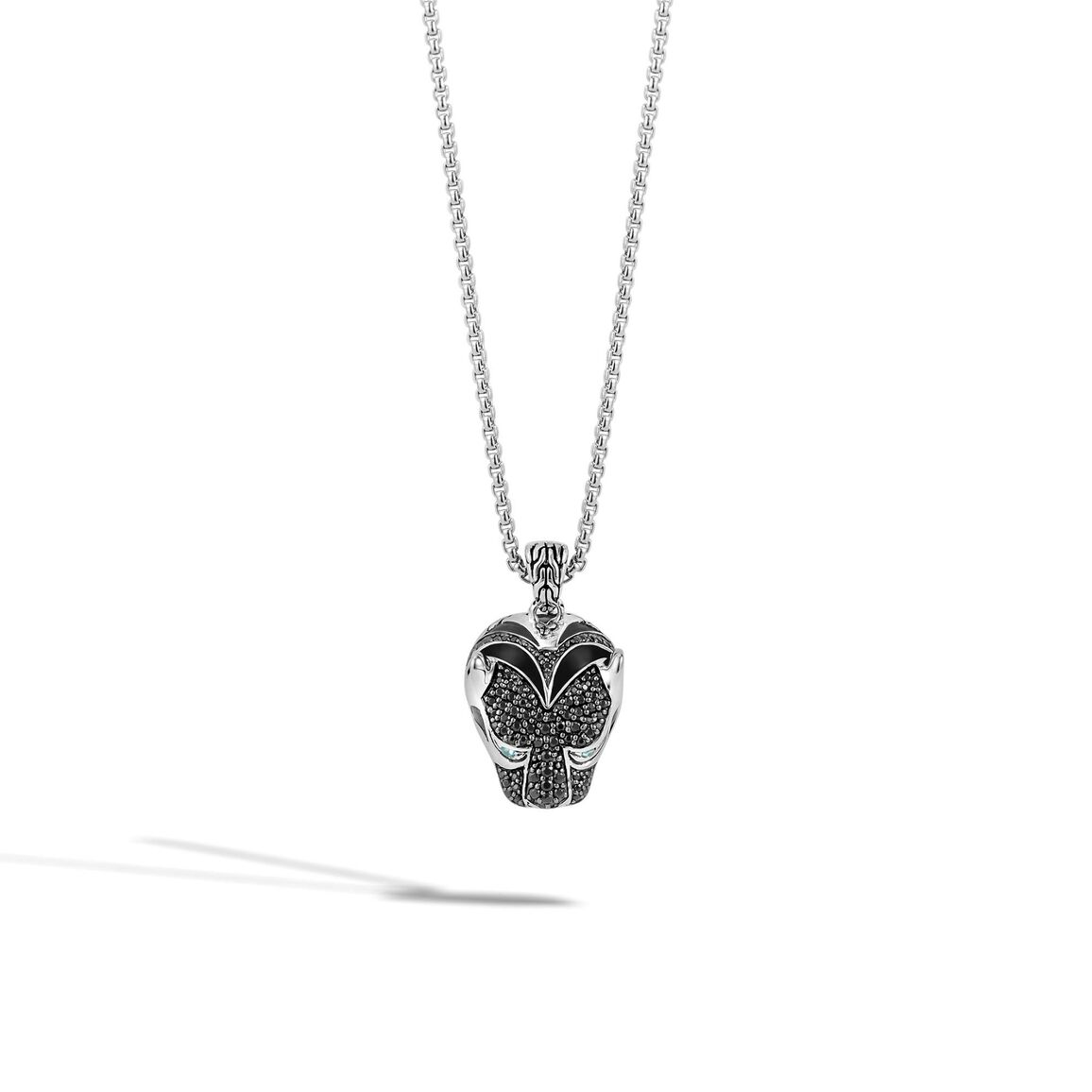 Legends Macan Pendant Necklace in Silver with Gemstone