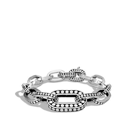 Dot Graduated Link Bracelet in Silver
