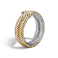 John Hardy - Dot Double Coil Bracelet in Silver and 18K Gold