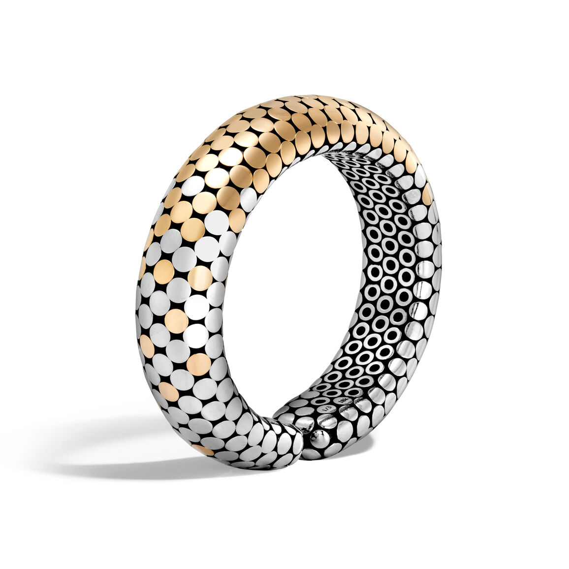 Dot 16MM Cuff in Silver and 18K Gold