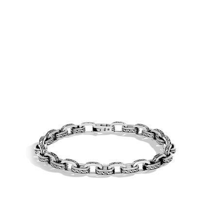 Classic Chain 7MM Link Bracelet in Silver