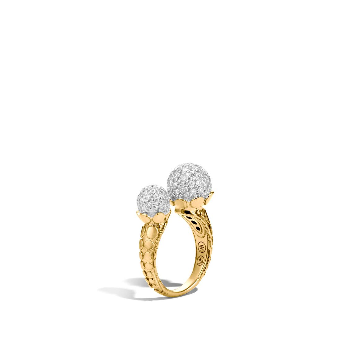 Dot Ring in 18K Gold with Diamonds