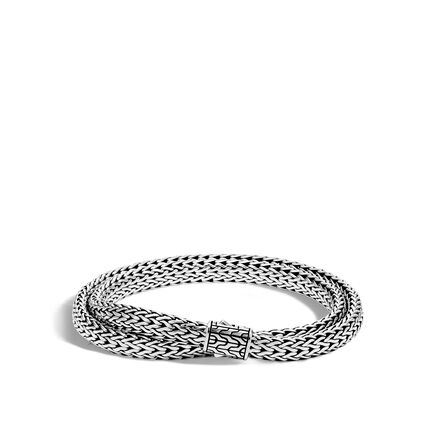 Classic Chain 6.5MM Wrap Bracelet in Silver