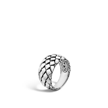 Legends Cobra 11MM Band Ring in Silver