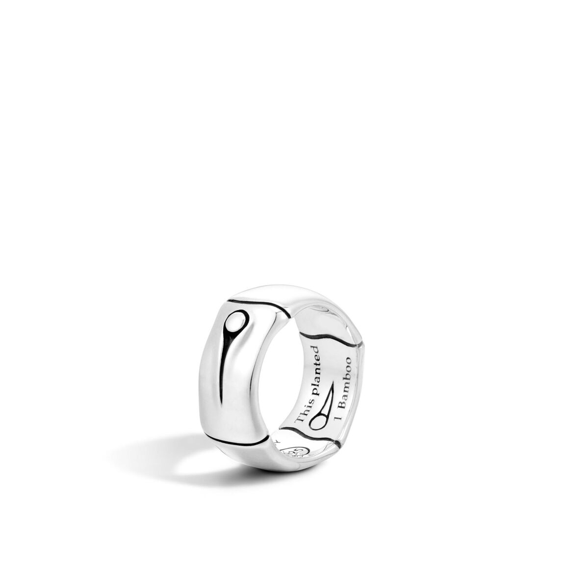 Bamboo 9MM Band Ring in Silver