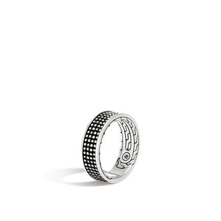 Chain Jawan 7.5MM Band Ring in Blackened Silver