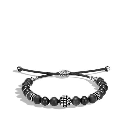 Chain Jawan Bead Bracelet in Silver with 8MM Gemstone