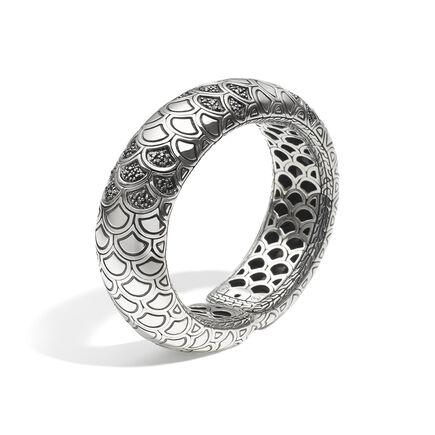 Legends Naga 20.5MM Cuff in Silver with Gemstone