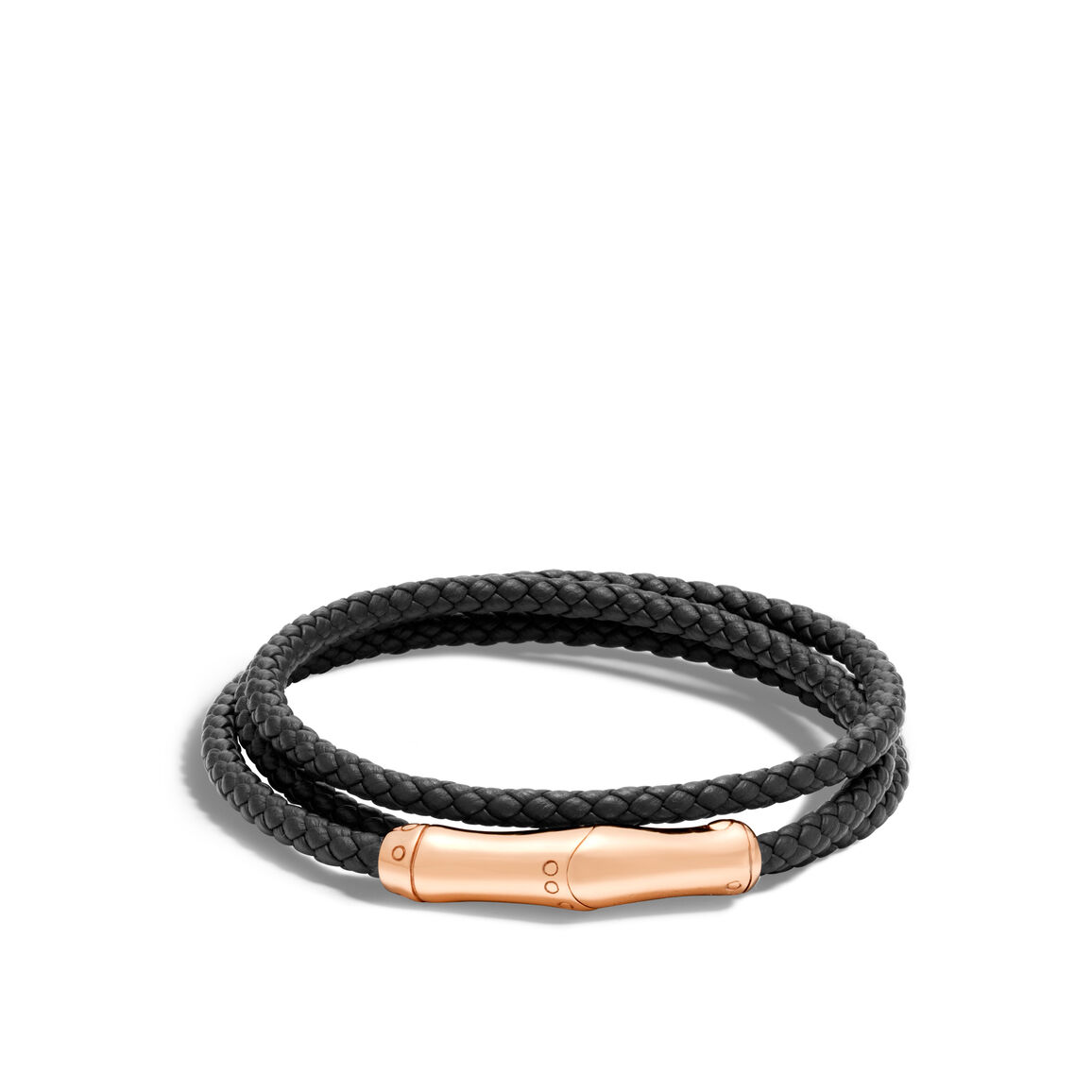Bamboo Wrap Bracelet in Bronze and Leather