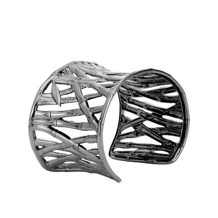 Bamboo 48MM Cuff in Blackened Silver