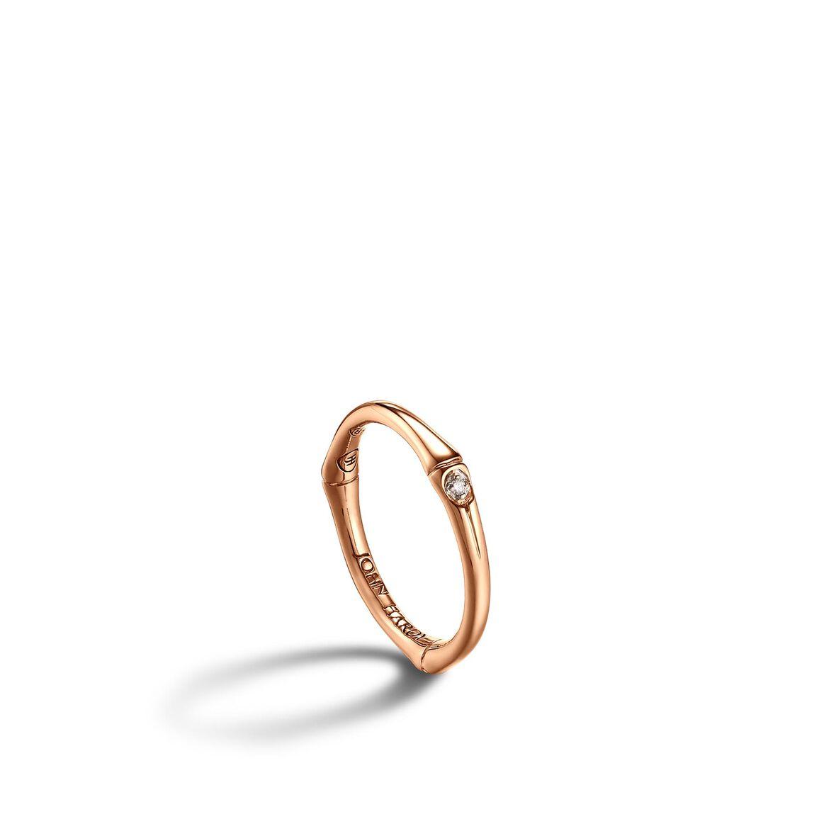 Slim Band Ring with Diamonds