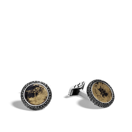 Classic Chain Cufflinks with Apache Gold