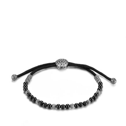 Classic Chain Bead Bracelet with Black Onyx