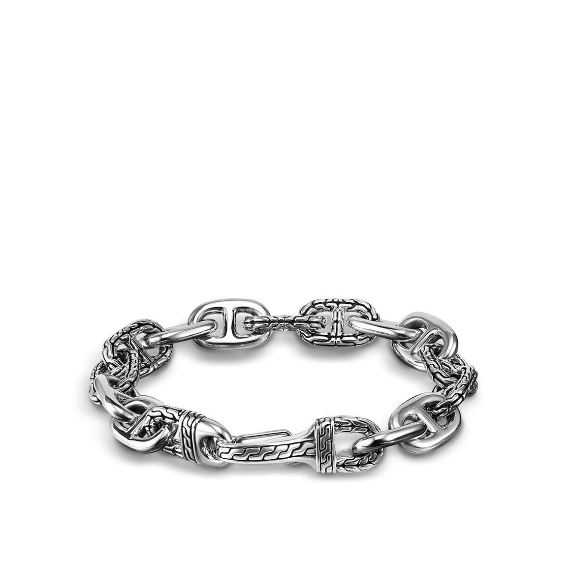 Classic Chain 12MM Link Bracelet In Silver