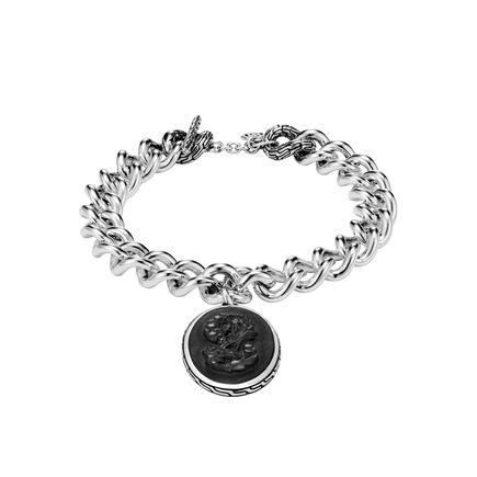 Legends Naga Carved Charm Bracelet with Gemstone