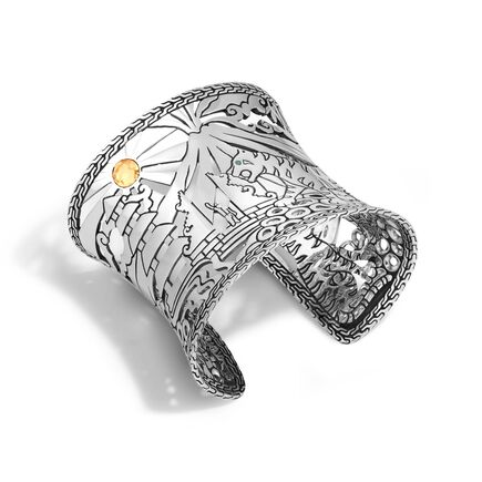 Legends Macan 65MM Cuff in Silver and 18K Gold
