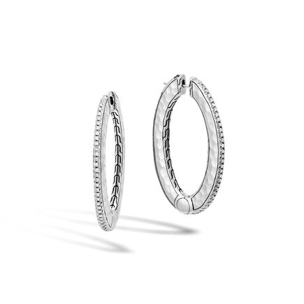 Classic Chain Reversible Medium Hoop Earrings