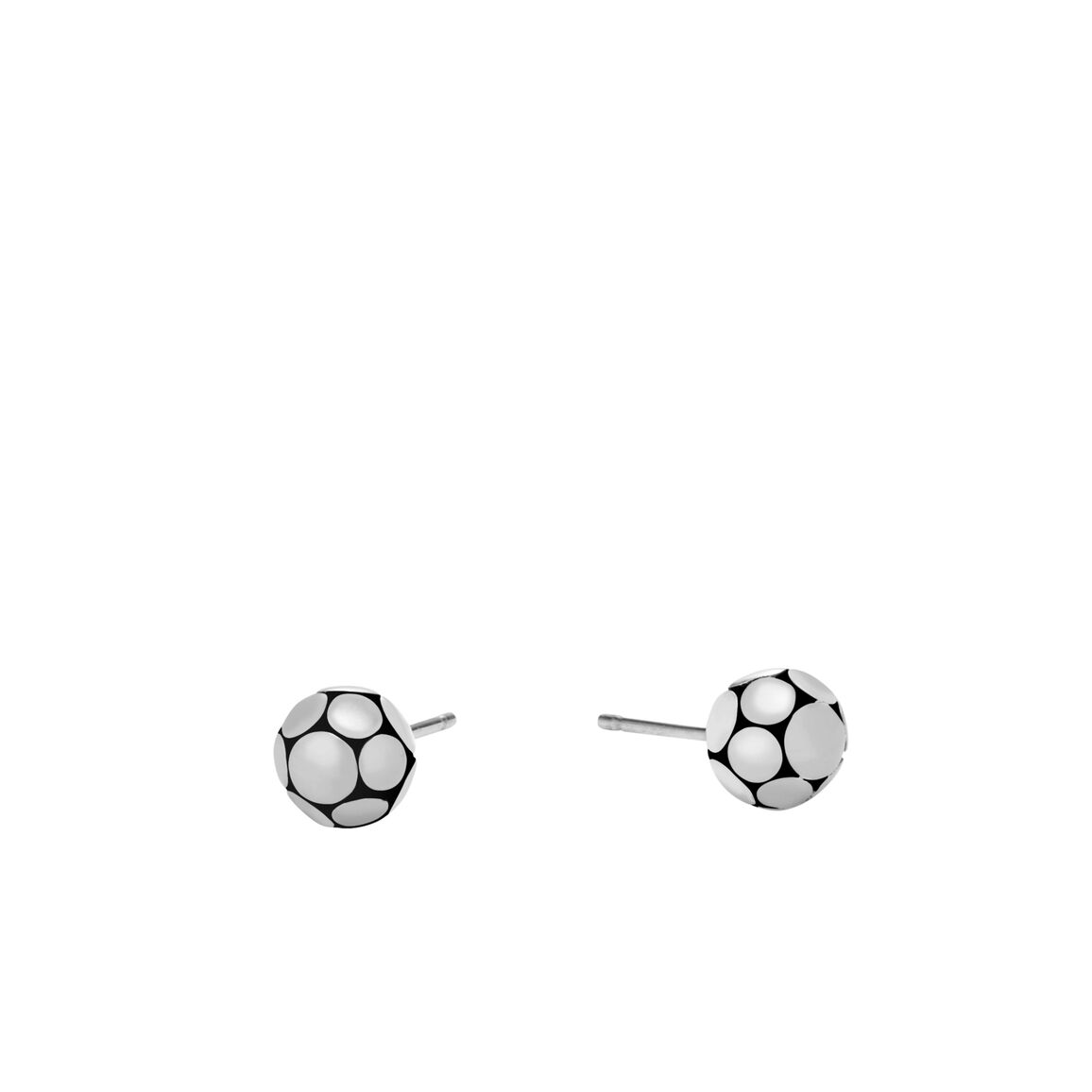 Dot Stud Earring in Silver